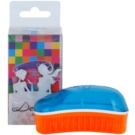 Dessata Original Mini Summer cepillo perfumado para cabello Turquoise/Tangerine (Brushes with Fluorescent Colours and Coconut Scented Bristles)