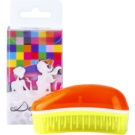 Dessata Original Mini Summer Scented Brush For Hair Tangerine/Yellow (Brushes with Fluorescent Colours and Coconut Scented Bristles)