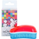 Dessata Original Mini Summer Scented Brush For Hair Fuchsia/Turquoise (Brushes with Fluorescent Colours and Coconut Scented Bristles)