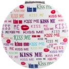 Diva & Nice Cosmetics Accessories kosmetické zrcátko kulaté Kiss Me (7x7 cm)