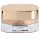 Dolce & Gabbana The Foundation Perfect Luminous Creamy Foundation base veludosa para pele radiante tom No.75 Bisque SPF 15 (Perfect Luminous Creamy Foundation) 30 ml
