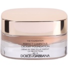 Dolce & Gabbana The Foundation Perfect Luminous Creamy Foundation samtenes Make-up zur Verjüngung der Gesichtshaut Farbton No. 144 Bronze SPF 15  30 ml