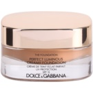 Dolce & Gabbana The Foundation Perfect Luminous Creamy Foundation Silky Make- Up For Face Illuminating Color No. 150 Almond SPF 15 (Perfect Luminous Creamy Foundation) 30 ml