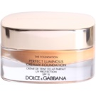 Dolce & Gabbana The Foundation Perfect Luminous Creamy Foundation samtenes Make-up zur Verjüngung der Gesichtshaut Farbton No. 160 Soft Tan SPF 15  30 ml
