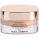 Dolce & Gabbana The Foundation Perfect Luminous Creamy Foundation samtenes Make-up zur Verjüngung der Gesichtshaut Farbton No. 110 Caramel SPF 15  30 ml