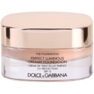 Dolce & Gabbana The Foundation Perfect Luminous Creamy Foundation base veludosa para pele radiante tom No. 130 Honey SPF 15 (Perfect Luminous Creamy Foundation) 30 ml