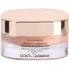 Dolce & Gabbana The Foundation Perfect Luminous Creamy Foundation base veludosa para pele radiante tom No. 140 Soft Sand SPF 15 (Perfect Luminous Creamy Foundation) 30 ml