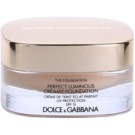 Dolce & Gabbana The Foundation Perfect Luminous Creamy Foundation base veludosa para pele radiante tom No. 78 Beige SPF 15 (Perfect Luminous Creamy Foundation) 30 ml