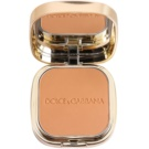 Dolce & Gabbana The Foundation Perfect Matte Powder Foundation matujący, pudrowy podkład z lusterkiem i aplikatorem odcień No. 144 Bronze (Perfect Matte Powder Foundation Wet Or Dry) 15 g