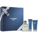 Dolce & Gabbana Light Blue Pour Homme lote de regalo I.  eau de toilette 125 ml + gel de ducha 50 ml + bálsamo after shave 75 ml