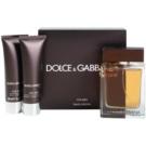 Dolce & Gabbana The One for Men Geschenkset V. Eau de Toilette 100 ml + After Shave Balsam 50 ml + Duschgel 50 ml