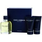 Dolce & Gabbana Pour Homme Geschenkset IX. Eau de Toilette 125 ml + After Shave Balsam 50 ml + Duschgel 50 ml