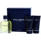 Dolce & Gabbana Pour Homme darčeková sada IX. toaletná voda 125 ml + balzam po holení 50 ml + sprchový gel 50 ml