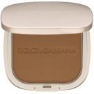 Dolce & Gabbana The Powder kompaktni puder s čopičem odtenek 6 Biscuit 15 g