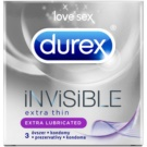 Durex Invisible preservativos extra finos (Extra Thin, Extra Lubricated) 3 ud