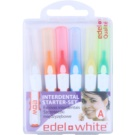Edel+White Interdental Brushes periute de dinti interdentare 6 bucati amestec A (Starter-Set)