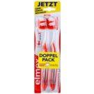 Elmex Caries Protection escova de dentes média com cabeça curta 2 pçs Orange & White (Inter X)