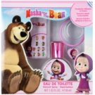 EP Line Masha and The Bear подаръчен комплект I.  тоалетна вода 30 ml + залепващи се обеци + гривна