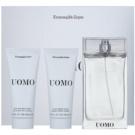 Ermenegildo Zegna Uomo подаръчен комплект III.  тоалетна вода 100 ml + балсам след бръснене 100 ml + душ гел 100 ml