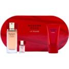 Estée Lauder Modern Muse Le Rouge dárková sada I. parfemovaná voda 50 ml + třpytivé tělové mléko 75 ml + parfemovaná voda 4 ml