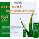 Eva Aloe Vera tratament pentru regenerarea intensa a parului  5 x 10 ml