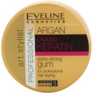 Eveline Cosmetics Argan + Keratin Extra Strong Hair Putty For Hair (Extra Strong 5) 100 g