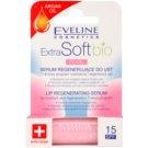 Eveline Cosmetics Extra Soft Bio відновлююча сироватка для губ Pearl SPF 15