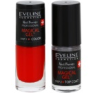 Eveline Cosmetics Nail Therapy Professional Gel Nail Varnish without UV/LED Sealing Color 01  2 x 5 ml