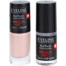 Eveline Cosmetics Nail Therapy Professional Gel Nail Varnish without UV/LED Sealing Color 02  2 x 5 ml