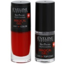 Eveline Cosmetics Nail Therapy Professional Gel Nail Varnish without UV/LED Sealing Color 04  2 x 5 ml