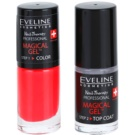 Eveline Cosmetics Nail Therapy Professional Gel Nail Varnish without UV/LED Sealing Color 07  2 x 5 ml
