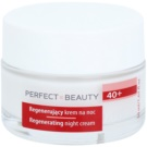 Farmona Perfect Beauty 40+ crema de noapte efect regenerator (Collagen, Hyaluronic Acid, White Truffles, Almond Oil) 50 ml