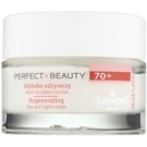 Farmona Perfect Beauty 70+ Cremă regeneratoare împotriva ridurilor (Amber, Calcium and Copper, Ceramides and Lipids, Retinol Plus) 50 ml