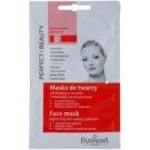 Farmona Perfect Beauty Capillary Skin maska za obraz za razpokane in razširjene žilice (Chestnut, Japanese Ginkgo, Siberian Ginseng, Rutin, Shea Butter) 2 x 5 ml
