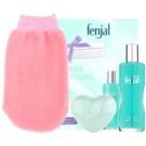 Fenjal Miss Classic dárková sada I. tělová emulze 100 ml + mýdlo 90 g + masážní rukavice