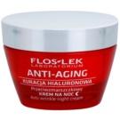 FlosLek Laboratorium Anti-Aging Hyaluronic Therapy Feuchtigkeitsspendende Nachtcreme mit Antifalten-Effekt  50 ml