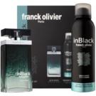 Franck Olivier In Black Pour Homme ajándékszett I.  Eau de Toilette 75 ml + dezodor szpré 200 ml