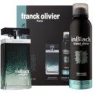 Franck Olivier In Black Pour Homme Geschenkset I. Eau de Toilette 75 ml + Deo-Spray 200 ml