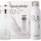 Franck Olivier Sun Java White Men darčeková sada I. toaletná voda 75 ml + deodorant v spreji 200 ml