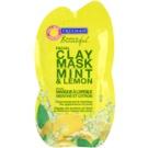 Freeman Feeling Beautiful Gesichtsmaske mit Kaolin für fettige und problematische Haut Minze und Zitrone Mint & Lemon  15 ml