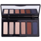GA-DE Basics paleta očních stínů se zrcátkem odstín 04 Silky Nude (6 Color Eyeshadow) 7,8 g