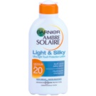 Garnier Ambre Solaire Light & Silky mleczko do opalania SPF 20 (Protection Lotion Ultra-light Touch) 200 ml