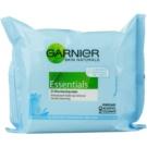 Garnier Essentials Sensitive Abschminktücher für alle Hauttypen, selbst für empfindliche Haut (Cleansing Wipes) 25 St.