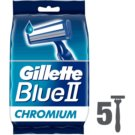 Gillette Blue II maquinillas desechables (Lubrastrip One Use Shave Razors) 5 ud