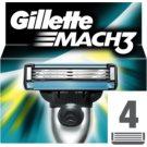 Gillette Mach 3 Spare Blades nadomestne britvice (Spare Blades) 4 kos