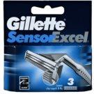 Gillette Sensor Excel zapasowe ostrza (Spare Blades) 3 szt.
