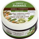 Green Pharmacy Body Care Argan Oil & Figs exfoliante a base de azúcar y sal (0% Parabens, Silicones, SLES, SLS) 300 ml