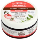 Green Pharmacy Body Care Muscat Rose & Green Tea cukrový peeling (0% Parabens, Silicones, SLES, SLS) 300 ml