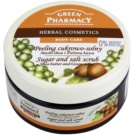 Green Pharmacy Body Care Shea Butter & Green Coffee cukrovo-soľný peeling (0% Parabens, Silicones, SLES, SLS) 300 ml