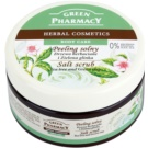 Green Pharmacy Body Care Tea Tree & Green Clay скраб със сол (0% Parabens, Silicones, SLES, SLS) 300 мл.